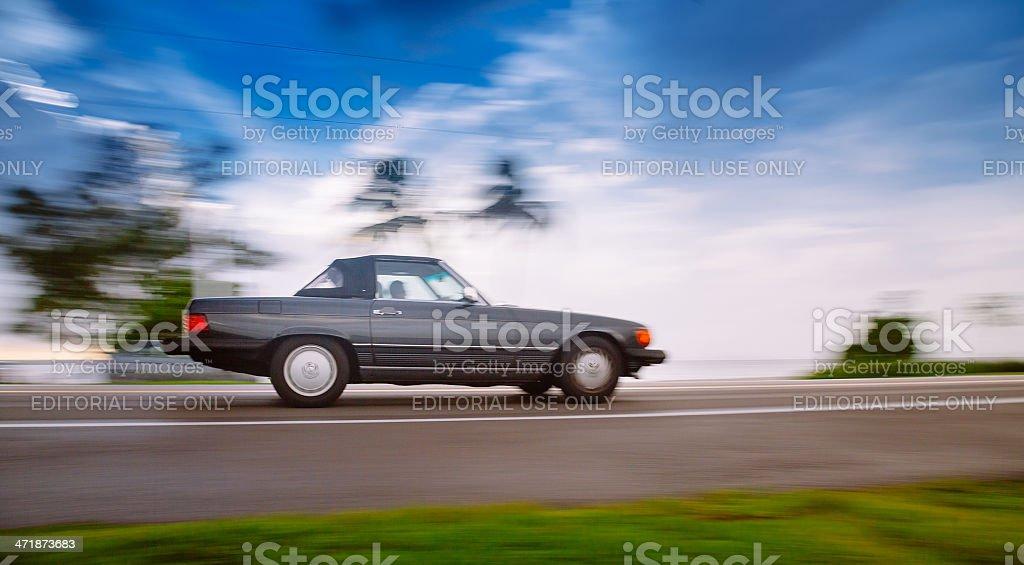 1985 Mercedes Benz 380L Convertible stock photo