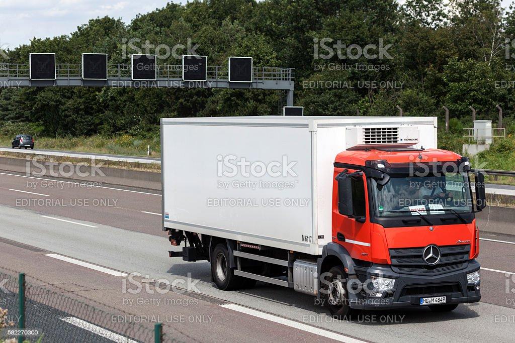 Mercedes Benz Antos Truck stock photo