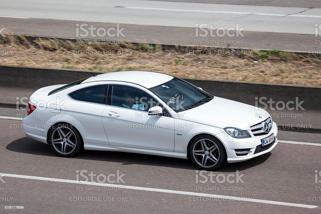 Mercedes Benz C-Class Coupe stock photo