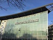 Berlin, Germany - December 3, 2016: Mercedes Benz dealership