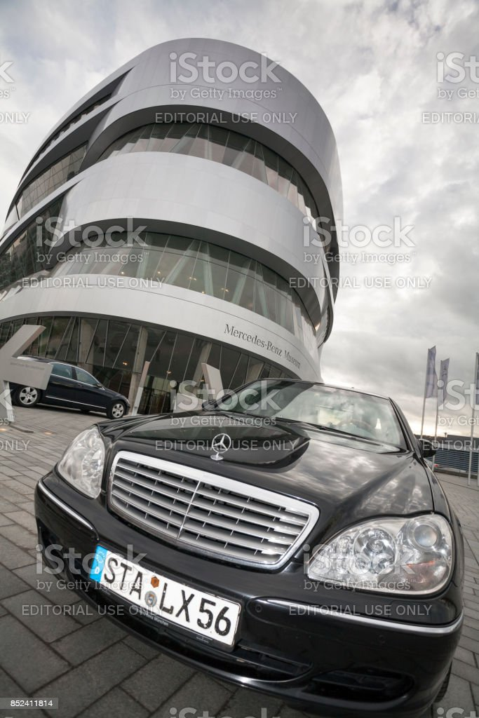Mercedes Benz Museum, Stuttgart, Baden-Wuerttemberg, Germany, Europe stock photo