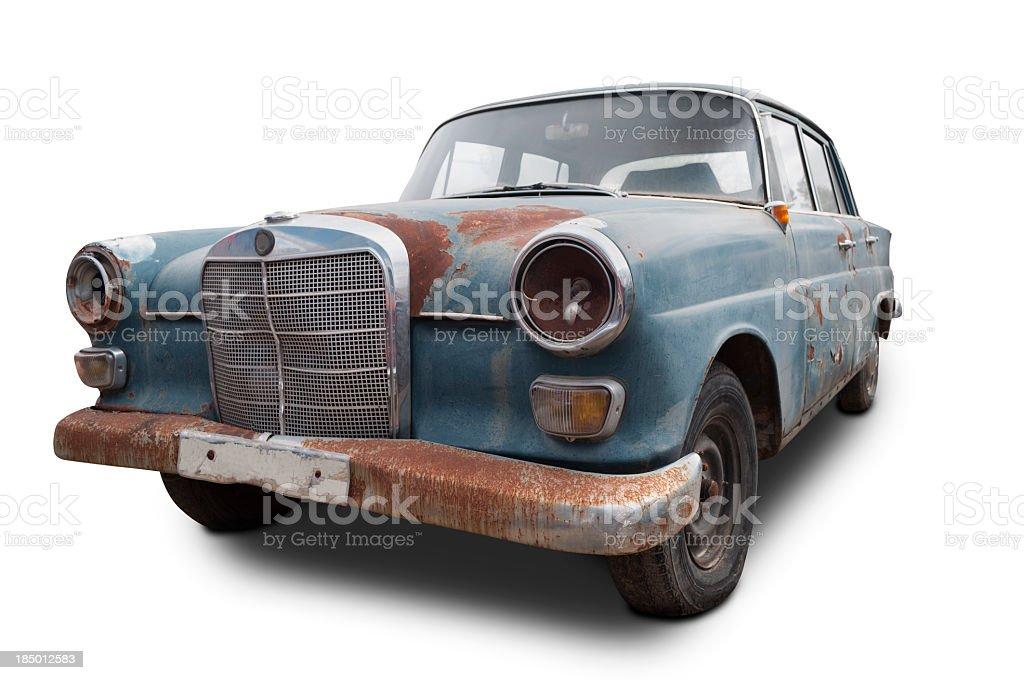 Mercedes Benz oxidized stock photo
