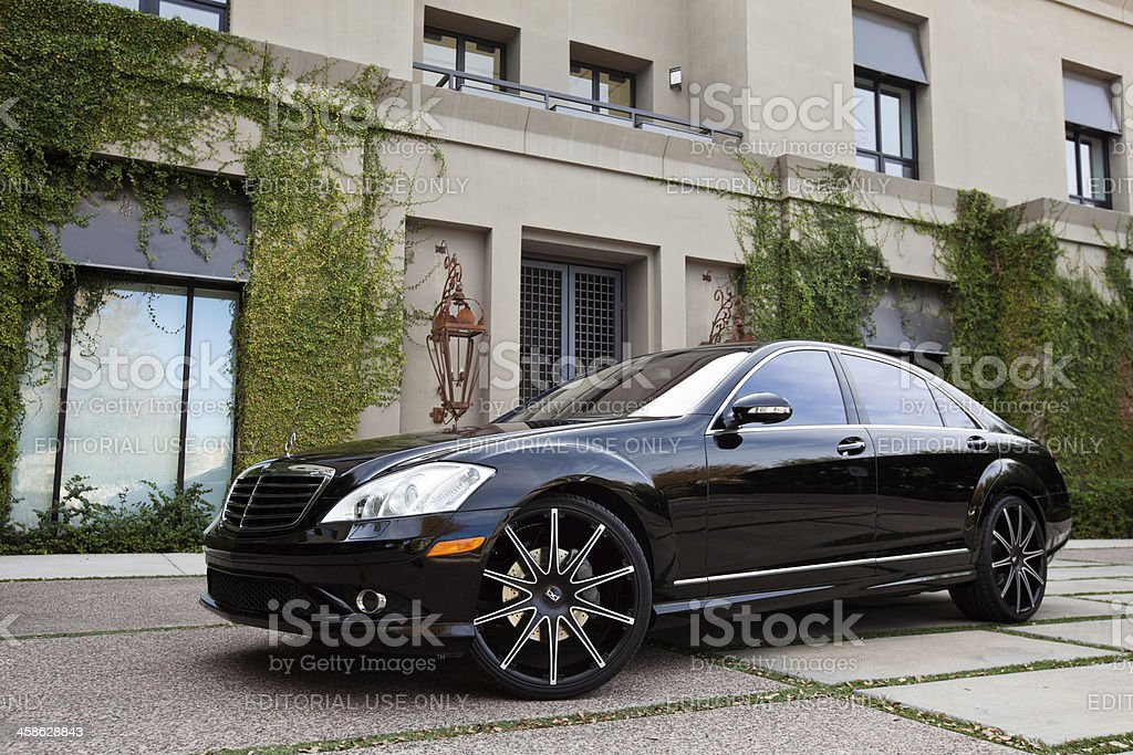 Mercedes Benz S550 stock photo