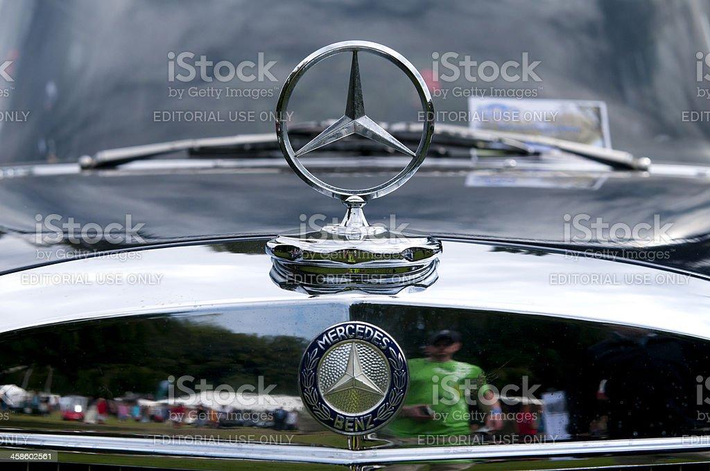 Mercedes Benz silver star logo royalty-free stock photo