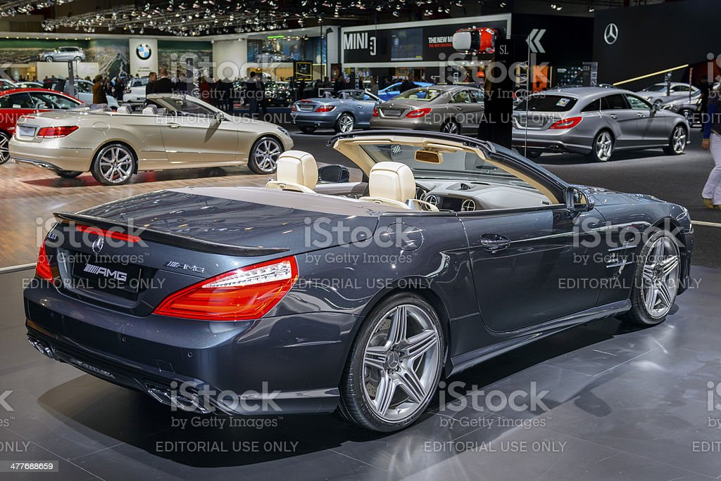 Mercedes Benz SL 63 AMG Convertible stock photo