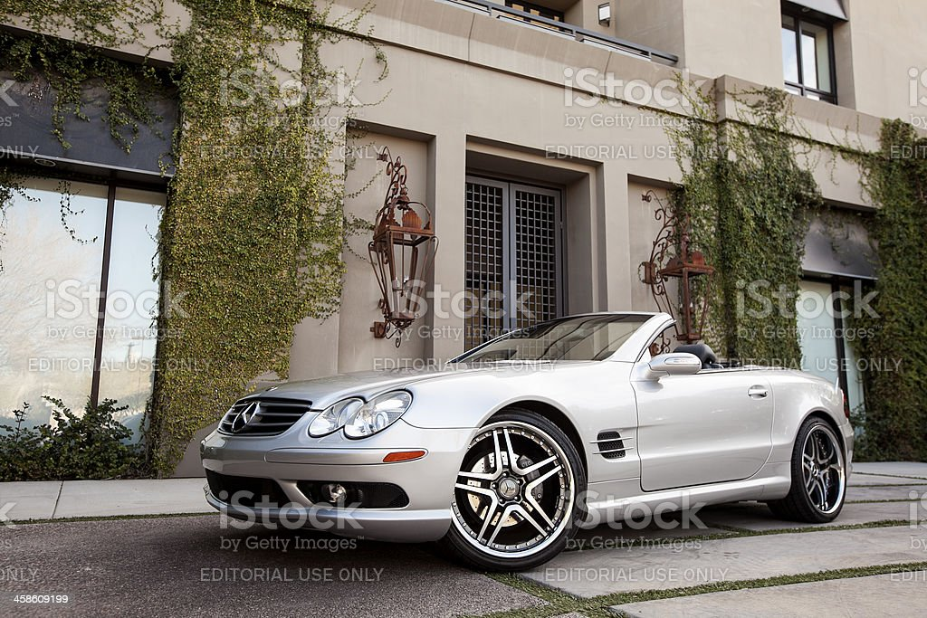 Mercedes Benz SL500 2005 royalty-free stock photo