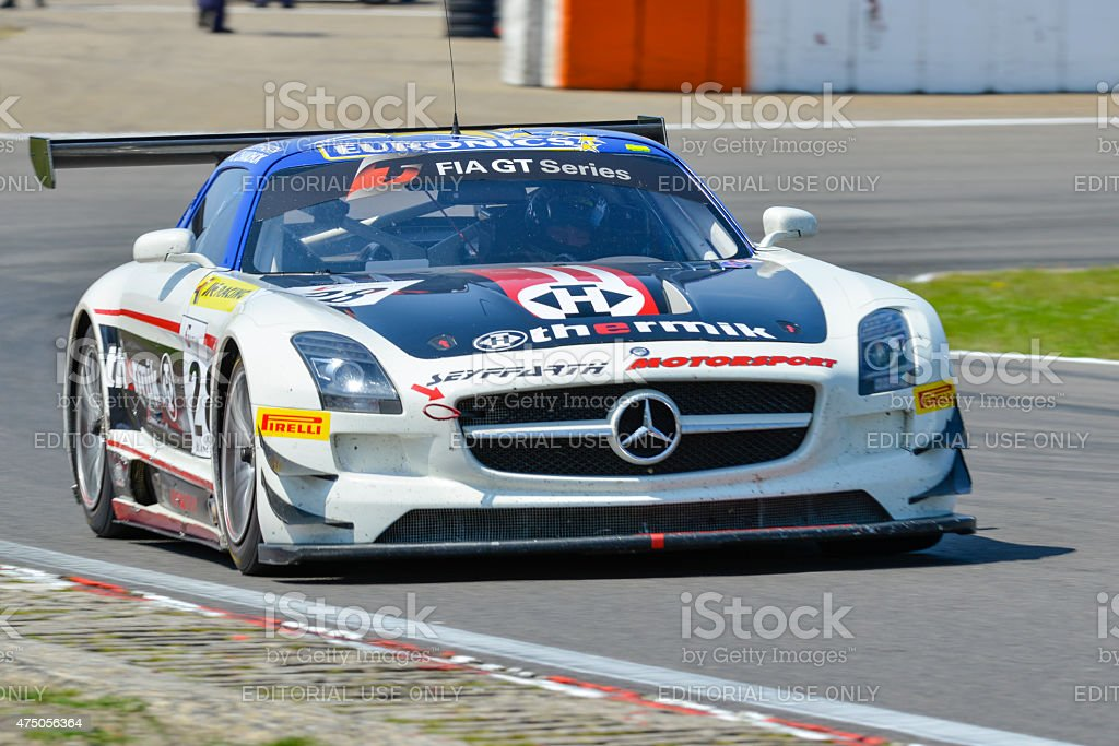 Mercedes Benz SLS AMG GT3 stock photo