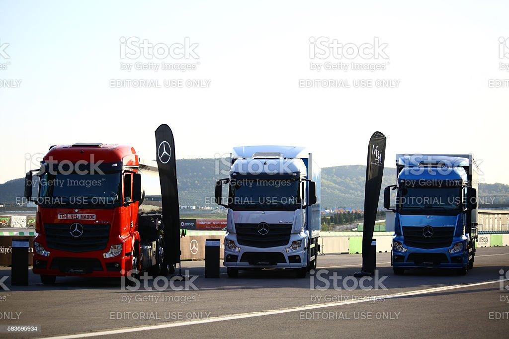 Mercedes - Benz Trucks stock photo