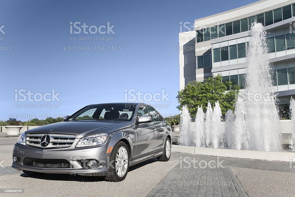 Mercedes C-Class royalty-free stock photo