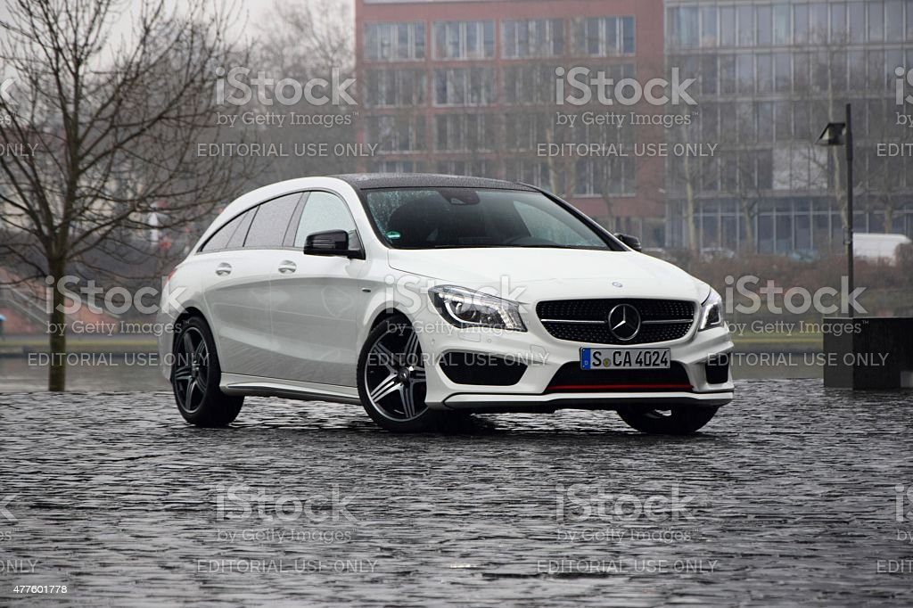 Mercedes CLA Shooting Brake on the parking stock photo