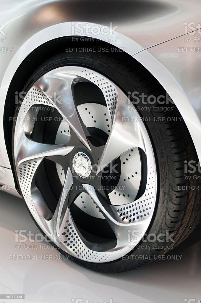 Mercedes Concept A-Class logo on wheel royalty-free stock photo