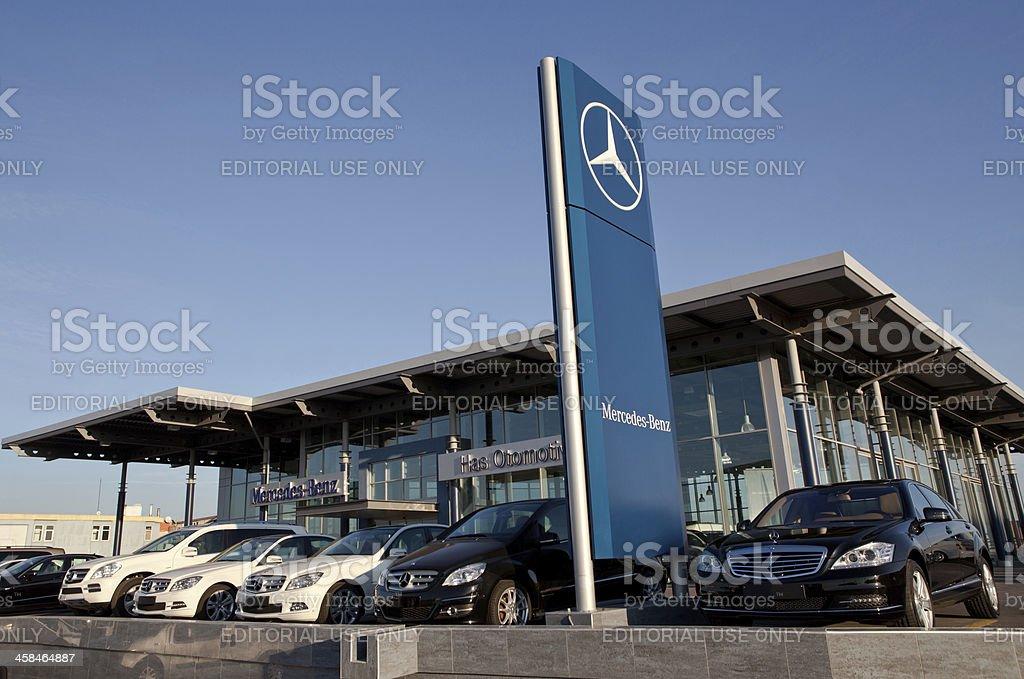 Mercedes Dealership royalty-free stock photo
