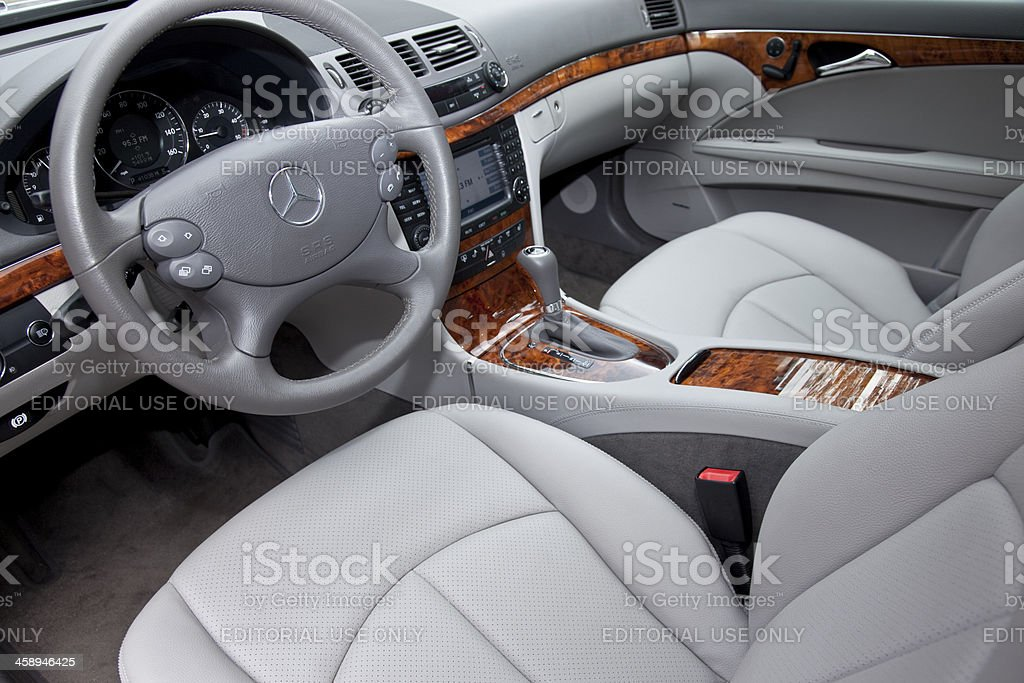 Mercedes E Class Interior royalty-free stock photo