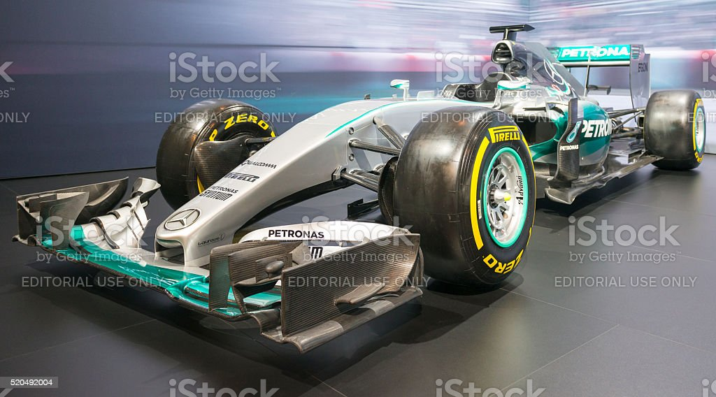 Mercedes F1 W06 Hybrid Formula 1 race car stock photo