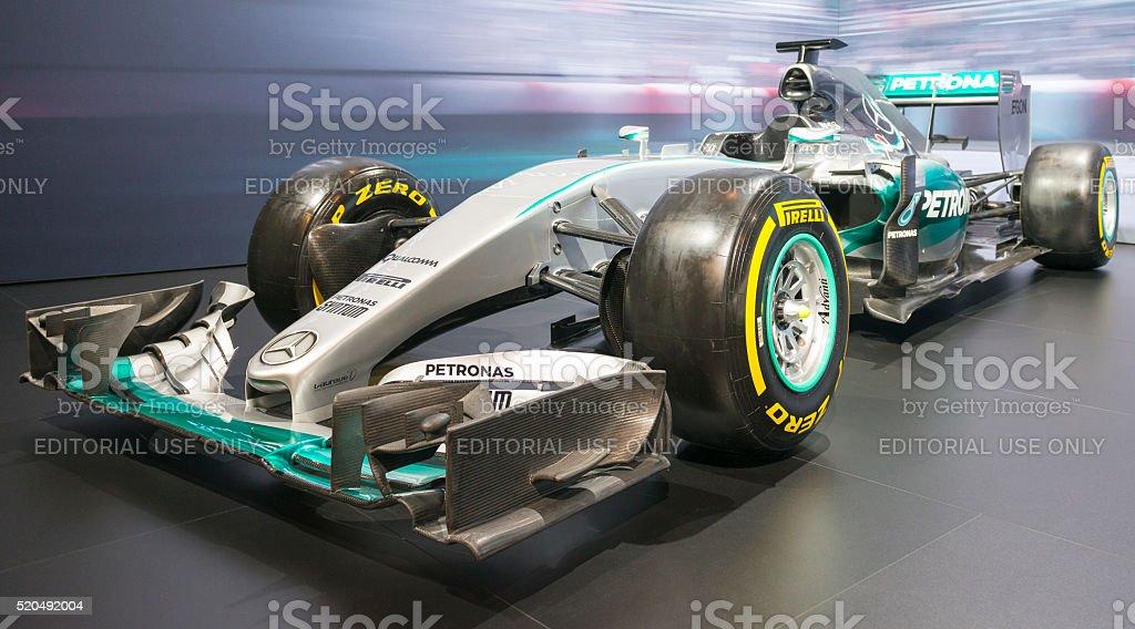 Mercedes F1 W06 Hybrid Formula 1 race car stock photo