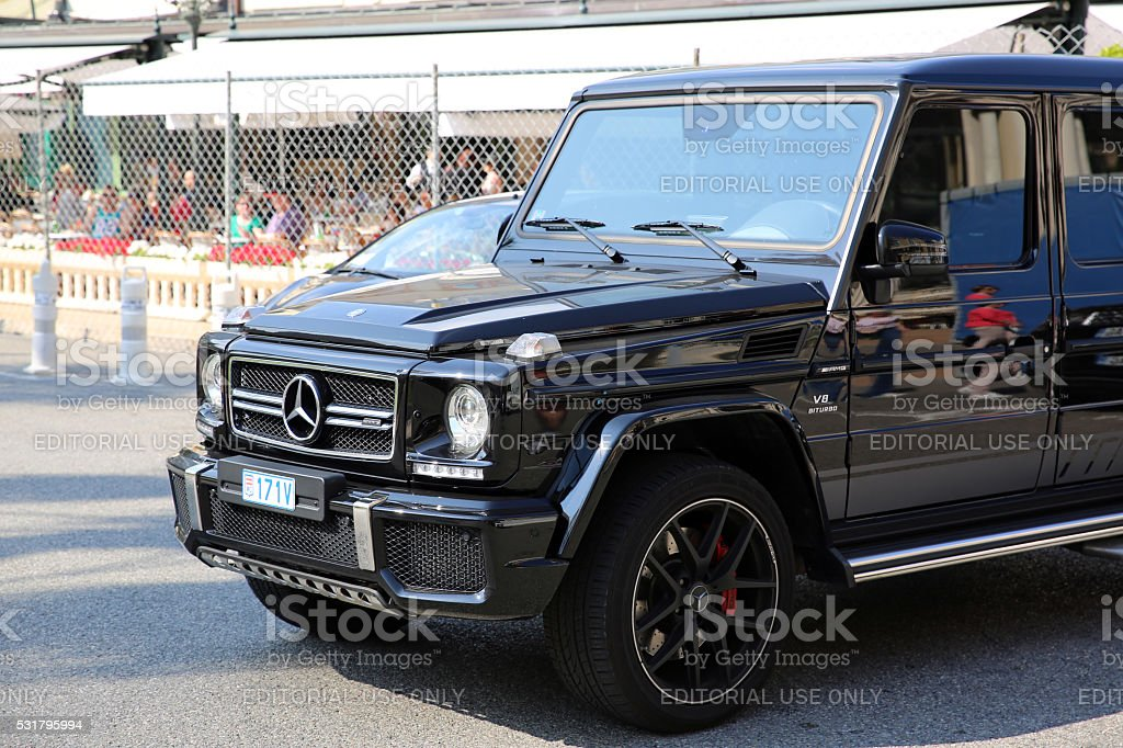 Mercedes G 63 AMG in Monaco stock photo