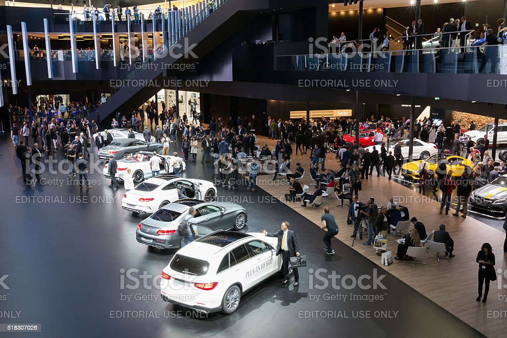 Mercedes IAA Frankfurt stock photo