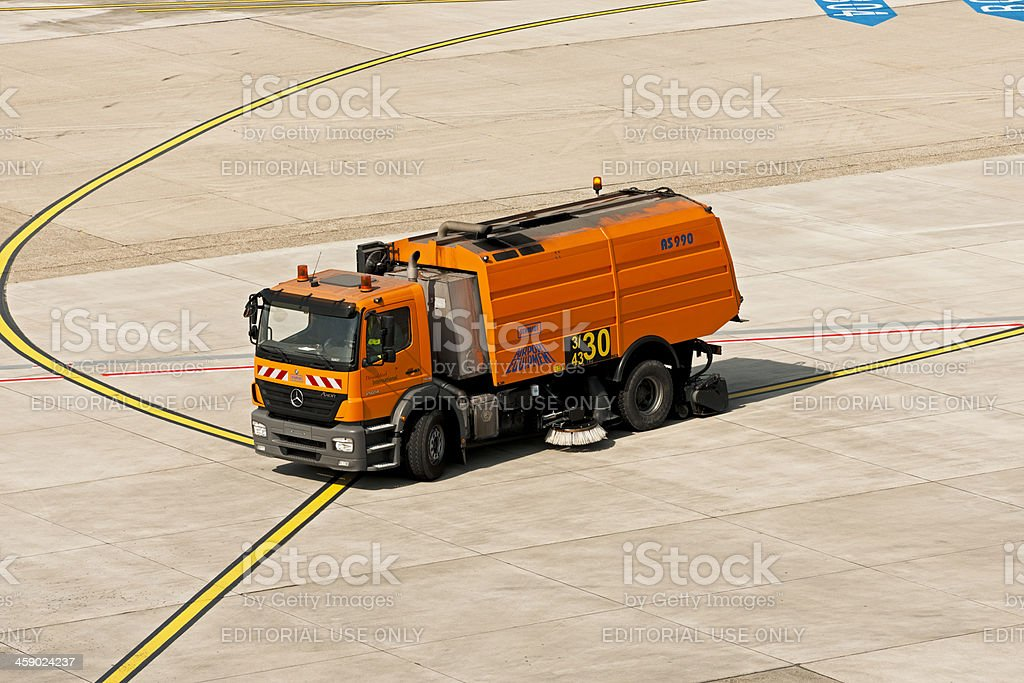Mercedes Road sweeper stock photo