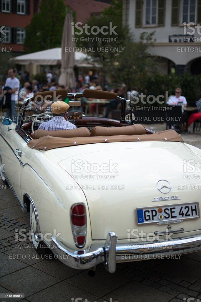 Mercedes SE 220 classic car royalty-free stock photo