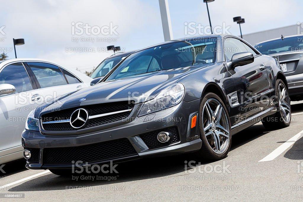 Mercedes SL63 AMG royalty-free stock photo