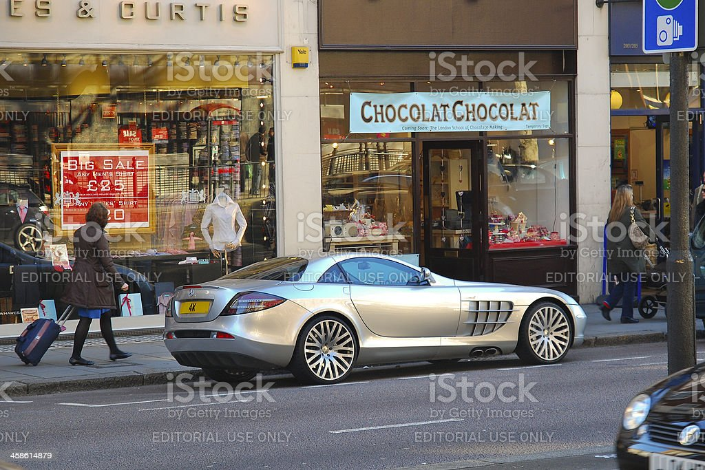 Mercedes SLR stock photo