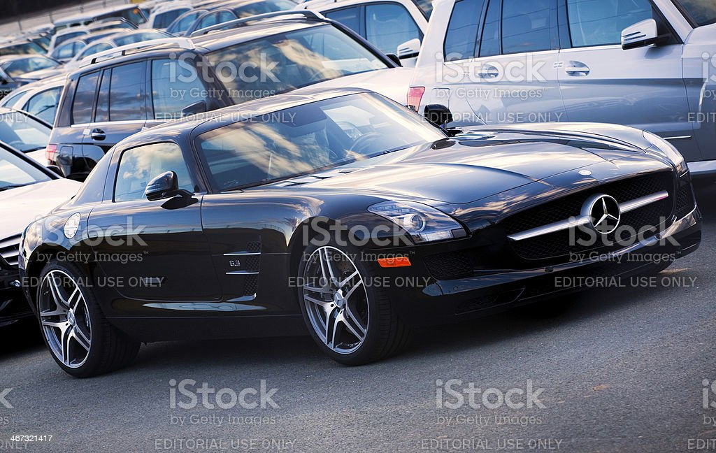 Mercedes SLS AMG Gullwing stock photo