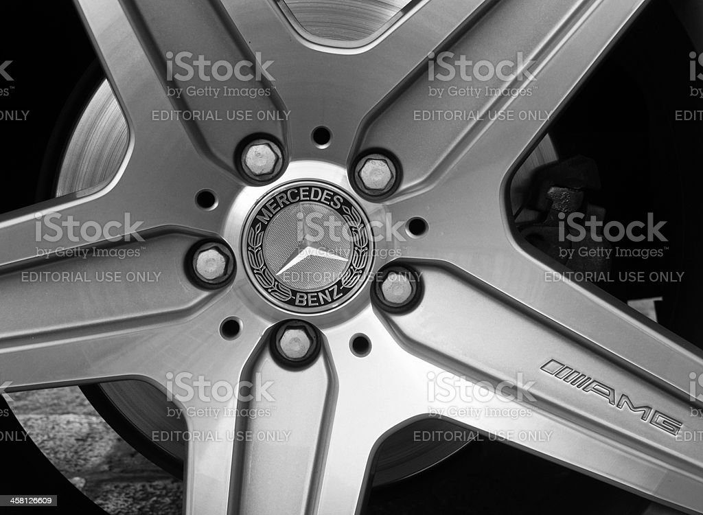 Mercedes wheel royalty-free stock photo