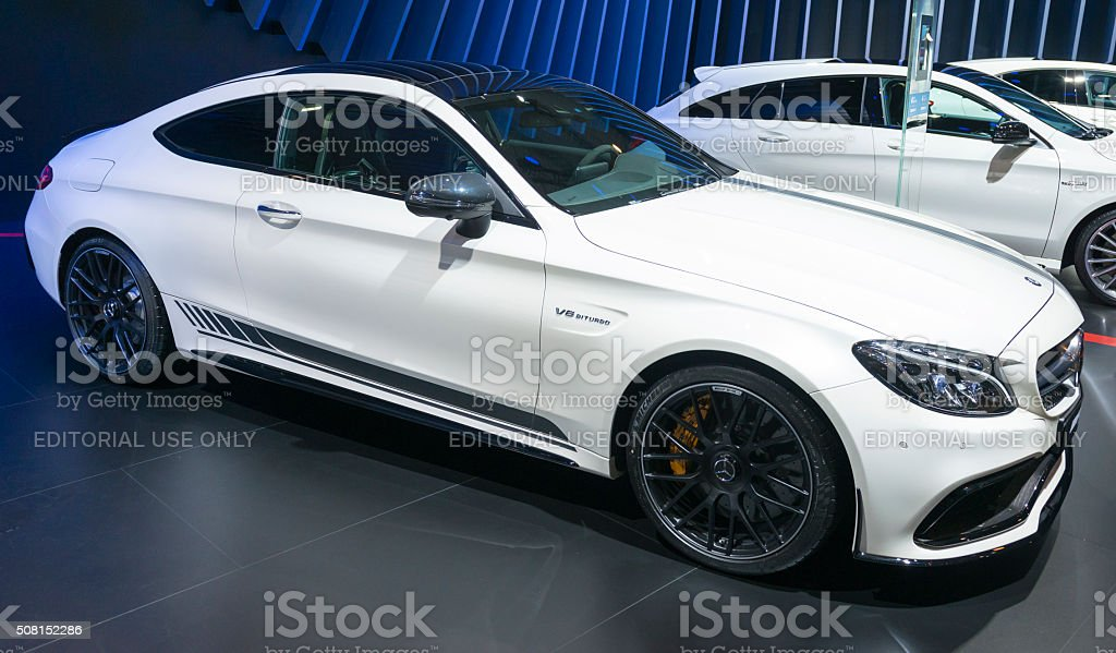 Mercedes-€'AMG C63 Coupe sports car stock photo