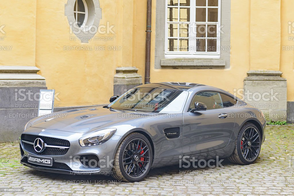 Mercedes-AMG GT coupe sports car stock photo