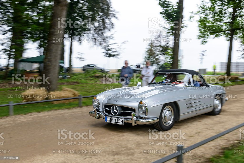 Mercedes-Benz 300SL Convertible classic car driving stock photo