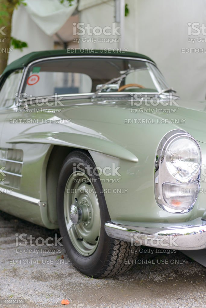 Mercedes-Benz 300SL Convertible classic sports car front stock photo