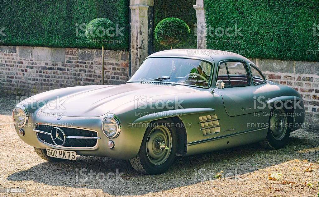 Mercedes-Benz 300SL Gullwing classic sports car stock photo