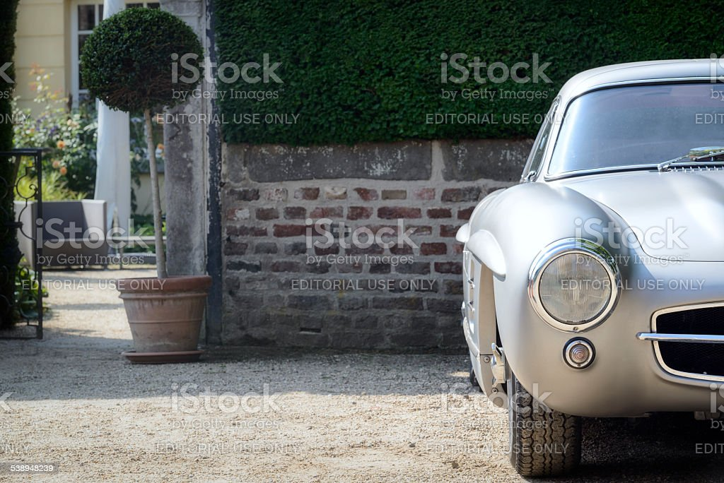 Mercedes-Benz 300SL Gullwing detail stock photo