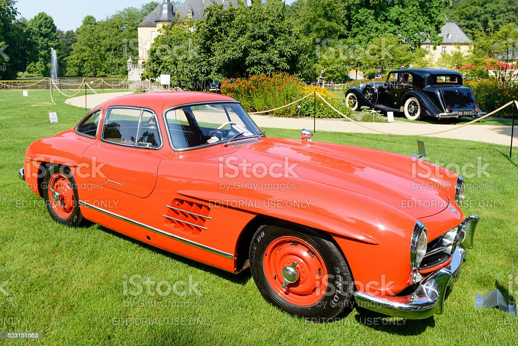 Mercedes-Benz 300SL Gullwing sports car stock photo
