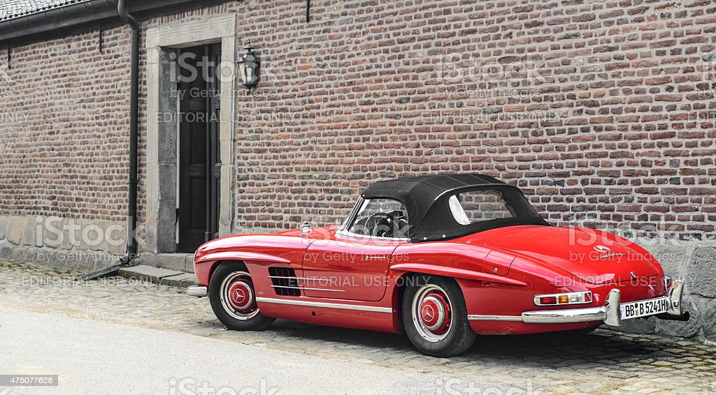 Mercedes-Benz 300SL Roadster classic sports car stock photo