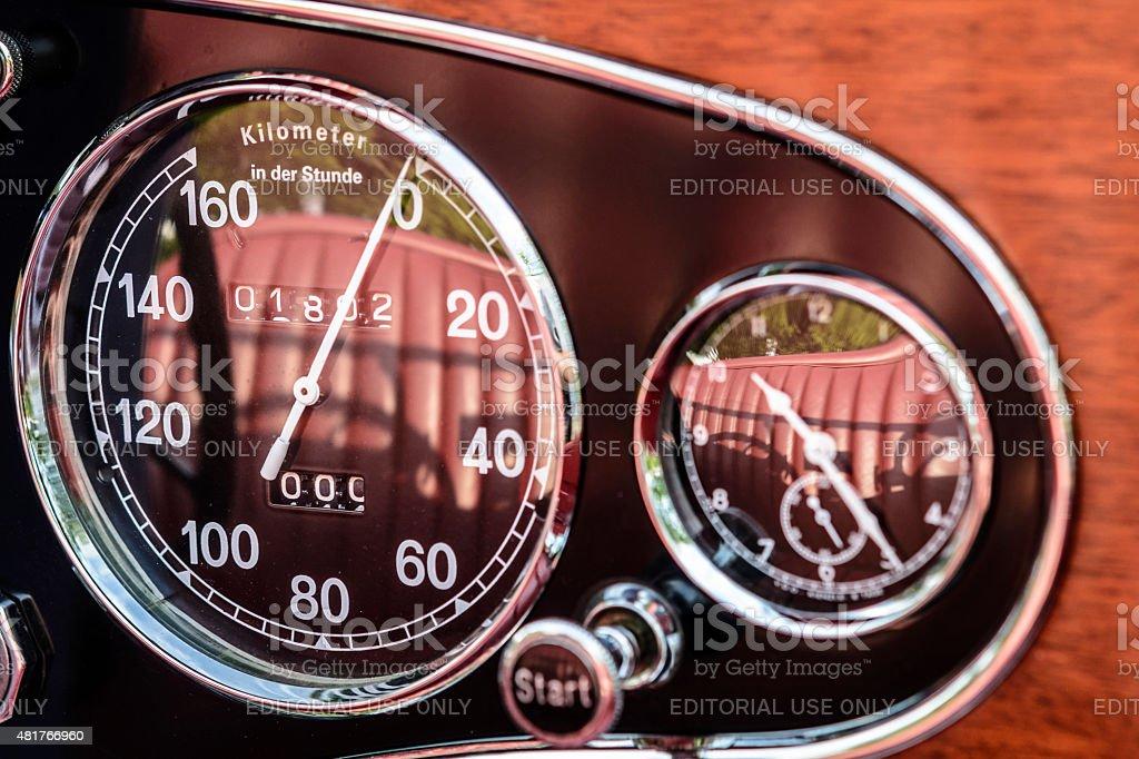 Mercedes-Benz 380K Roadster dashboard stock photo