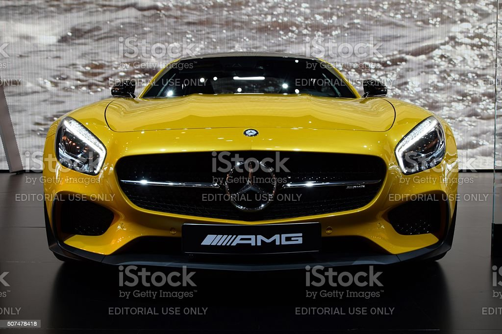 Mercedes-Benz AMG GT S on the motor show stock photo