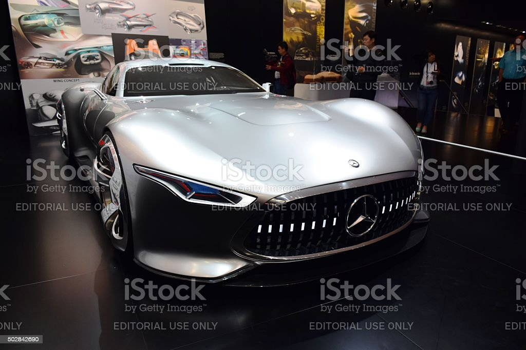 Mercedes-Benz AMG Vision Gran Turismo on the motor show stock photo