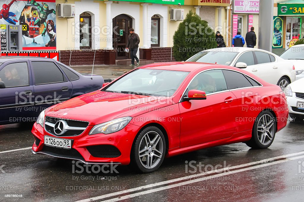 Mercedes-Benz C207 E-class stock photo