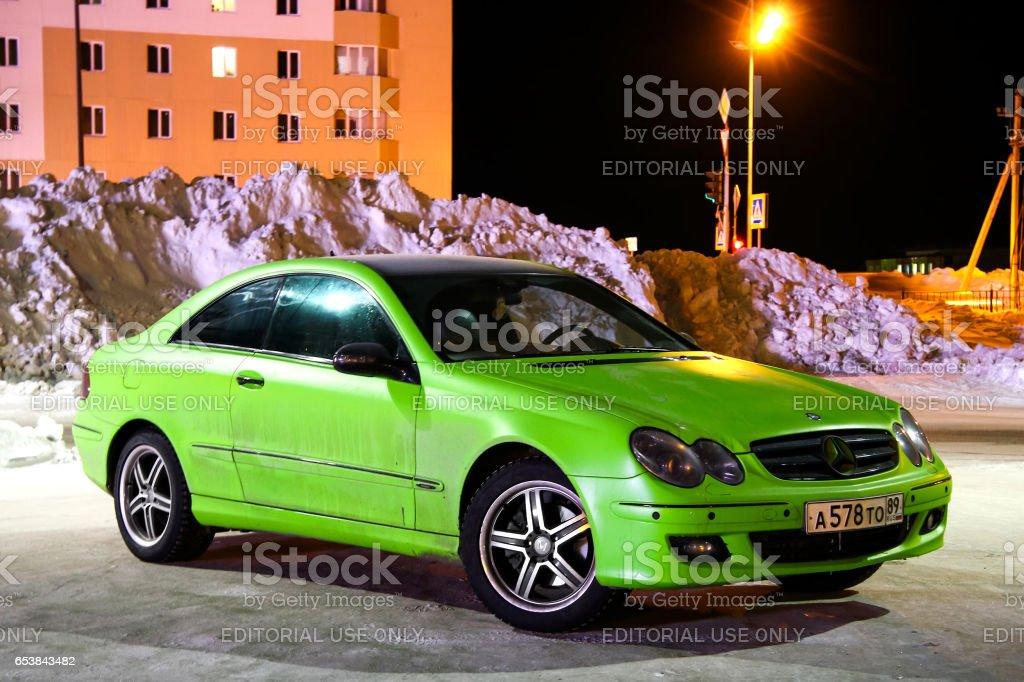 Mercedes-Benz C209 CLK-class stock photo