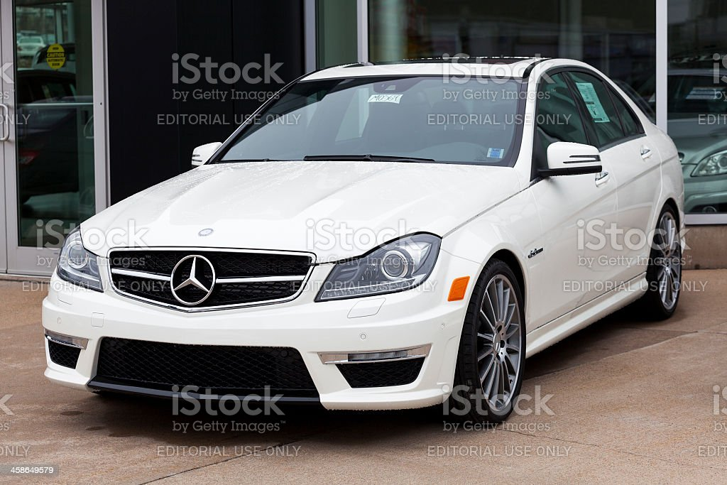 Mercedes-Benz C63 AMG royalty-free stock photo