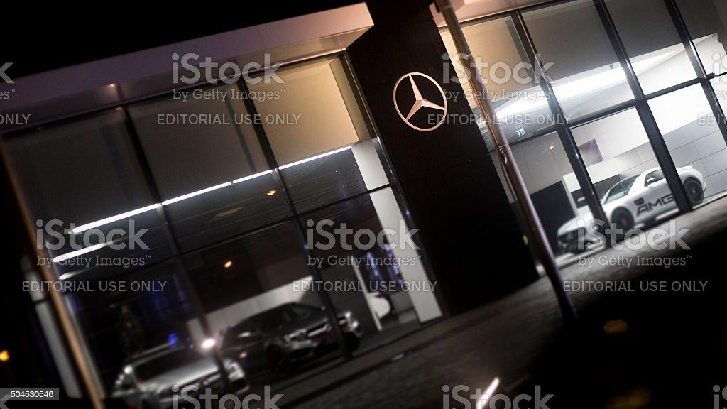 Mercedes-Benz Car Dealership stock photo