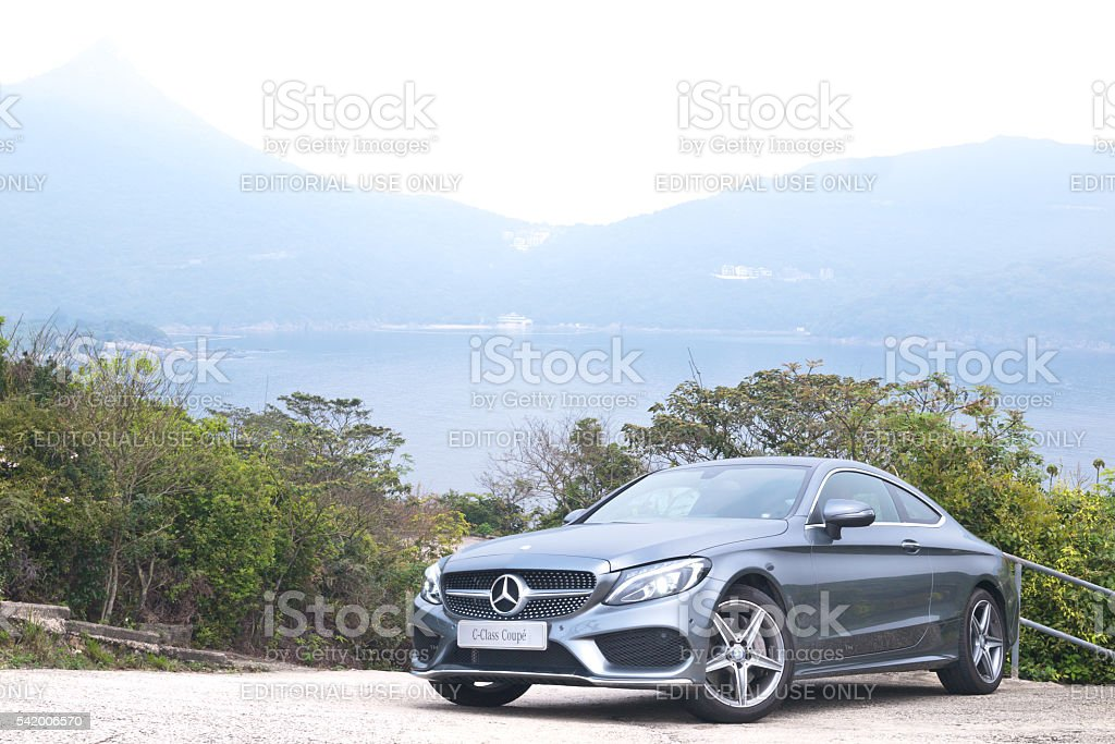 Mercedes-Benz C-Class Coupe 2016 Test Drive Day stock photo