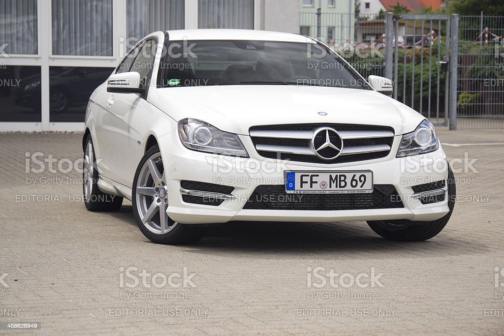Mercedes-Benz C-Class Coupe royalty-free stock photo