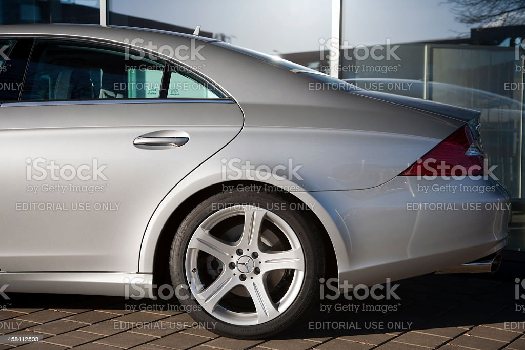 Mercedes-Benz CLS Class Partial Side View stock photo
