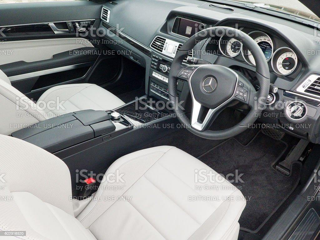 Mercedes-Benz E 250 Coupe 2016 Interior stock photo