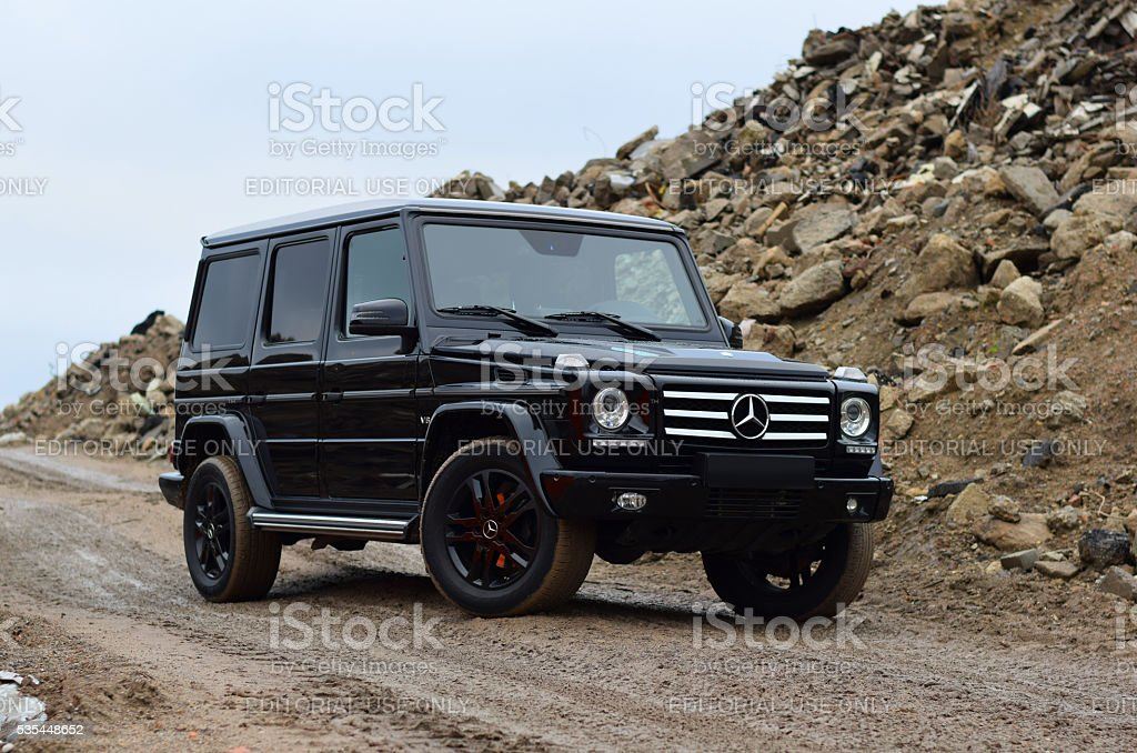 Mercedes-Benz G-Class on the road stock photo