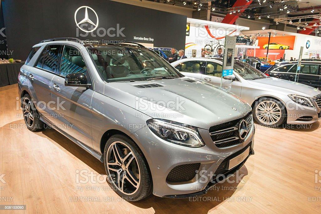 Mercedes-Benz GLE 500 e Hybrid luxury SUV stock photo