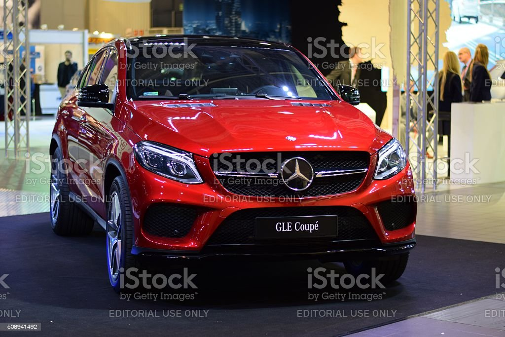 Mercedes-Benz GLE Coupe on the motor show stock photo