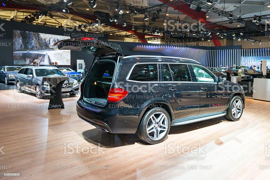 Mercedes-Benz GLS luxury SUV stock photo
